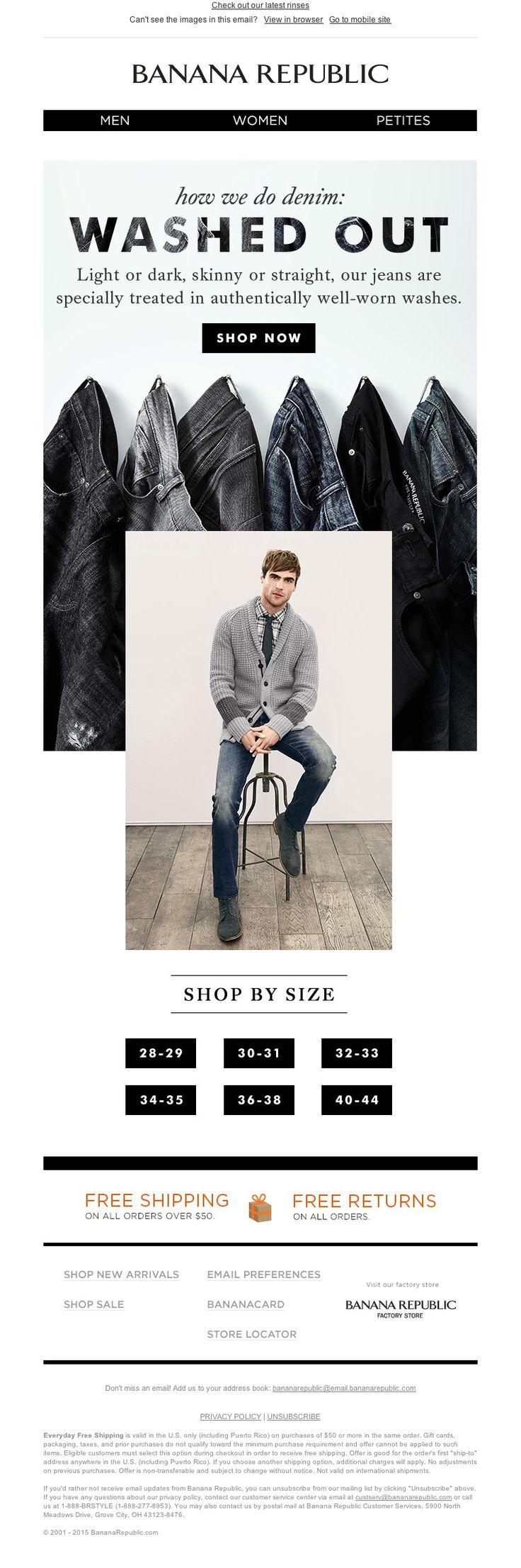 Hey! The struggle to work with catalog aspect ratio is real. Good solve. !!! Banana Republic - It's a wash (as in cool new denim)