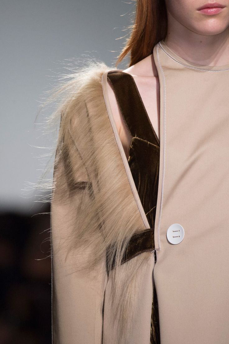 Chic tailoring with mixed layers & textures; fashion details // Gabriele Colangelo Spring 2016
