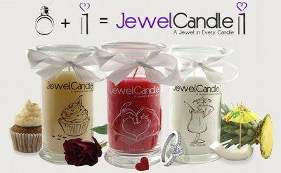 Des bougies avec un bijoux à l'intérieur!! I LOVE IT!