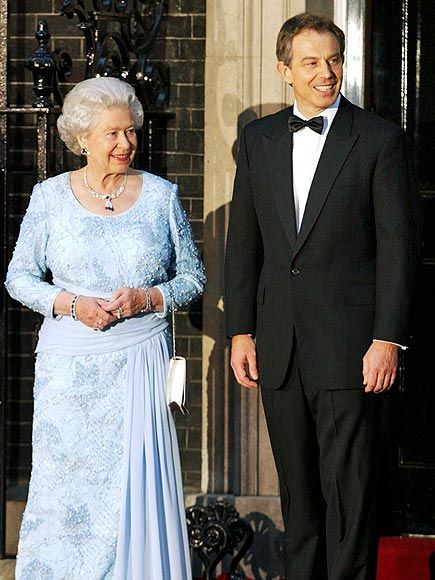 POWER ELITE  After suffering the death of a second close family member – her beloved mum, the Queen Mother Queen Elizabeth, on March 30, 2002 – the queen stepped out for a historic dinner with then-Prime Minister Tony Blair and past British Prime Ministers John Major, Margaret Thatcher, Sir Edward Heath and the Lord Callaghan of Cardiff in London on April 20.