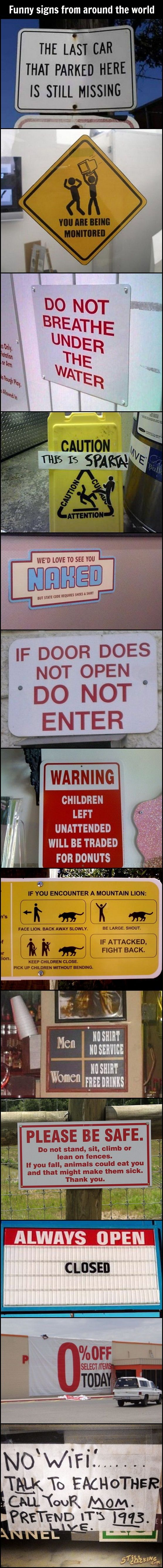 Funny Signs From Around The World...