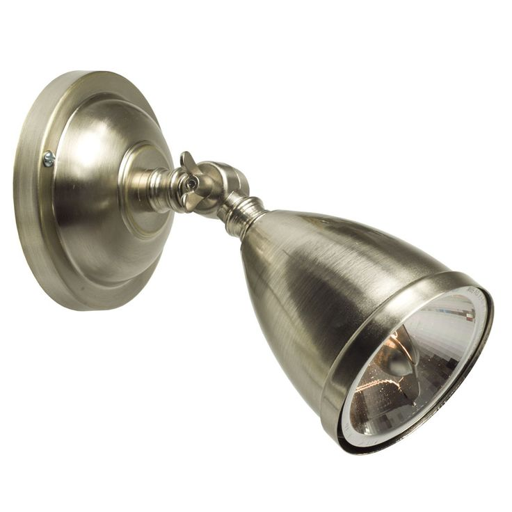 Einstellbarer, nostalgischer Halogen-Strahler aus Messing von Davey Lighting, Bild 10: Modell 2, Messing vernickelt