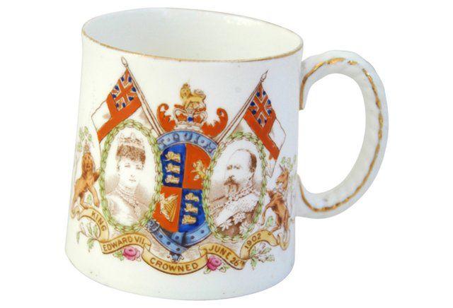 Edward VII & Alexandra Coronation Mug