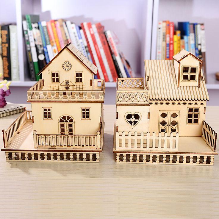 Замечательные Подарки 3D Игрушечный домик Куклы Готический Вилла Образовательных Деревянный Миниатюрный Строительство Детские Игрушки Дерево Ремесел Домашнего Декора купить на AliExpress