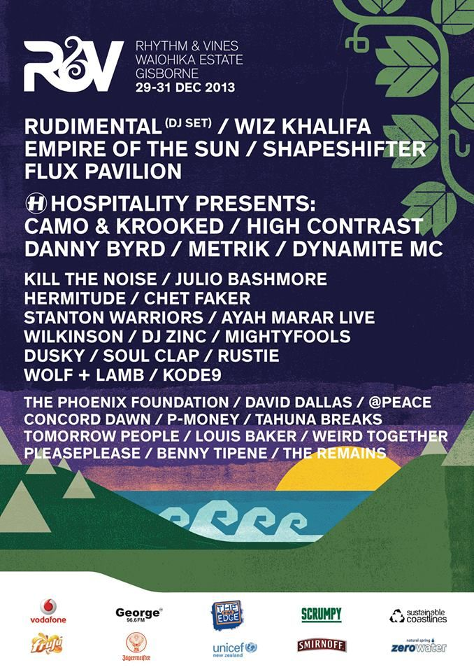 Rhythm and Vines 2013 2nd Lineup Announcement
