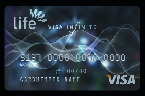 Credit card design with black and silver printing on the holographic foil