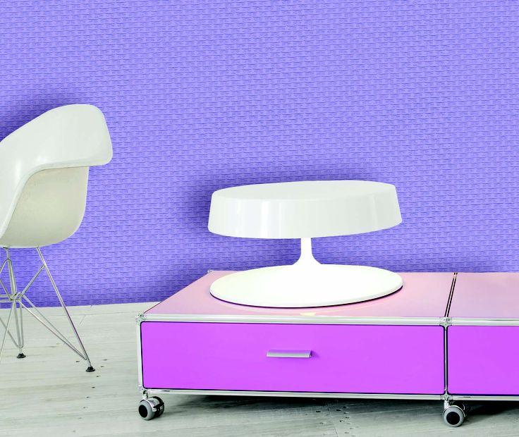 Empapelado violeta - Papel de parede