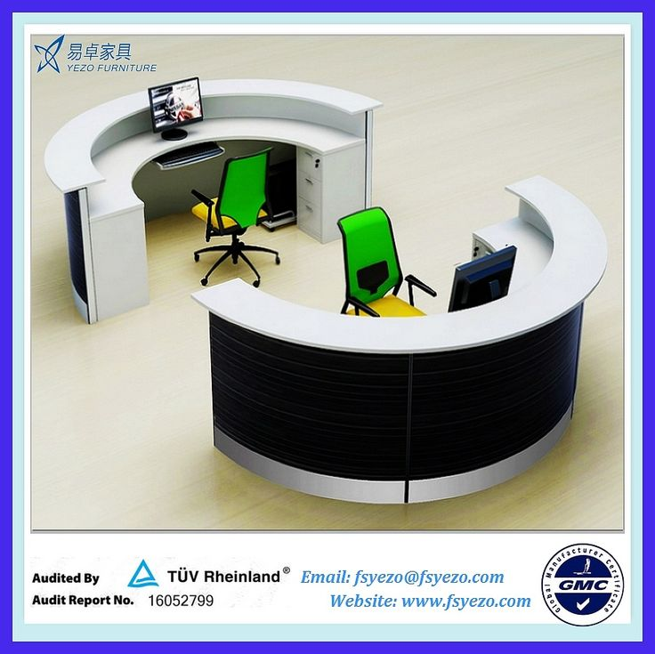 circular office desk. half round reception desk with 70mm partition curved photo detailed about circular office
