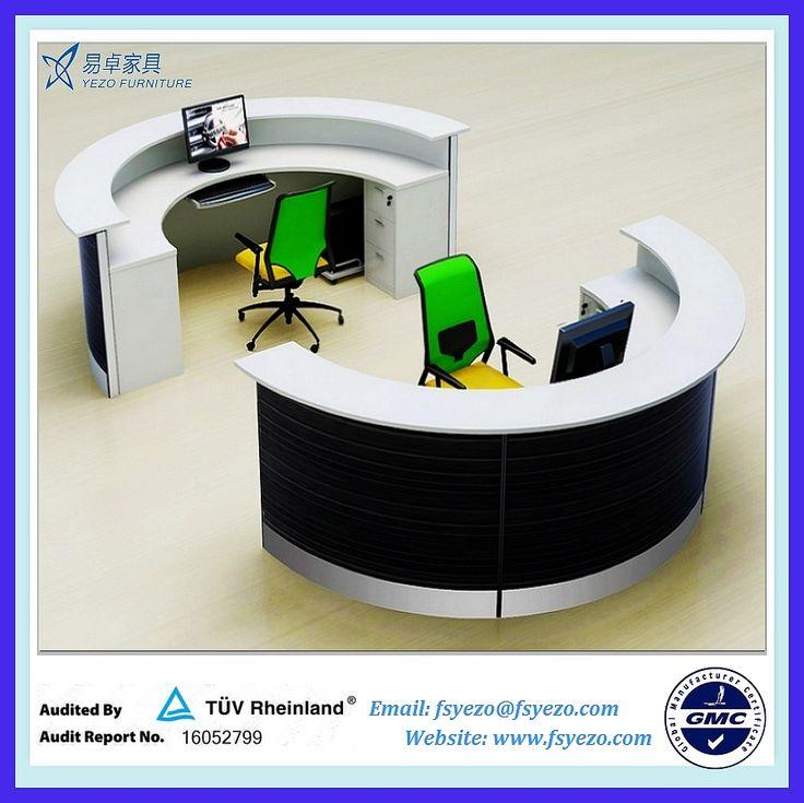 half round reception desk with 70mm partition curved reception desk blue curved office desk dividers