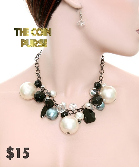 Big Pearl Necklace Set - $15    www.thecoinpurse.com