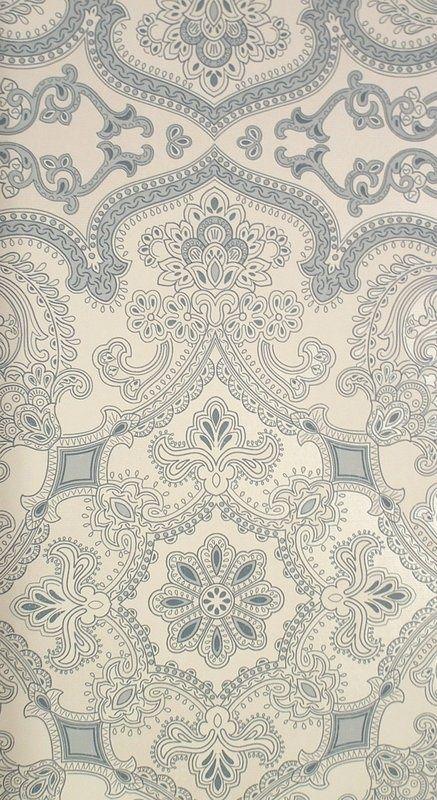 Persia Wallpaper Indigo (19156-705) – James Dunlop Textiles   Upholstery, Drapery & Wallpaper fabrics