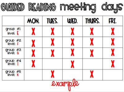 This printable is a wonderful way to help organize your Guided Reading groups!    (What the Teacher Wants)