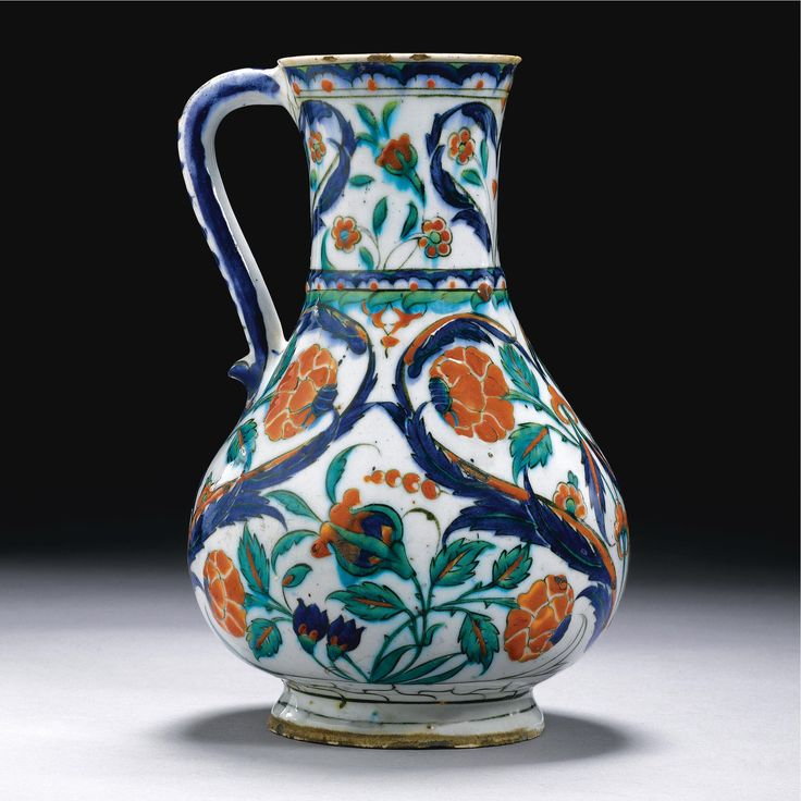 A large Iznik polychrome tankard, Turkey, <P>circa 1580</P> | Lot | Sotheby's