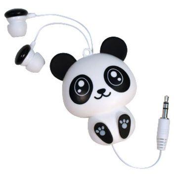 New Products - AFG - Retractable Panda Earbud Headphones
