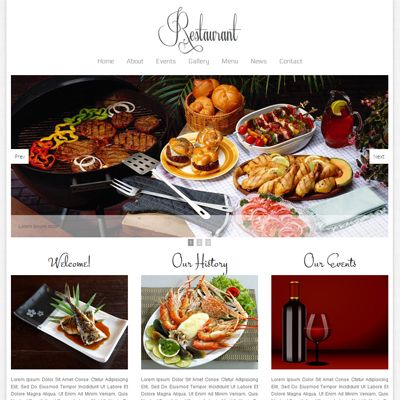 Free Floral Restaurant webtemplate and mobile webtemplate for hotels by w3layouts