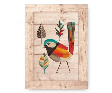 Tablou Aztek Bird 38x53 cm