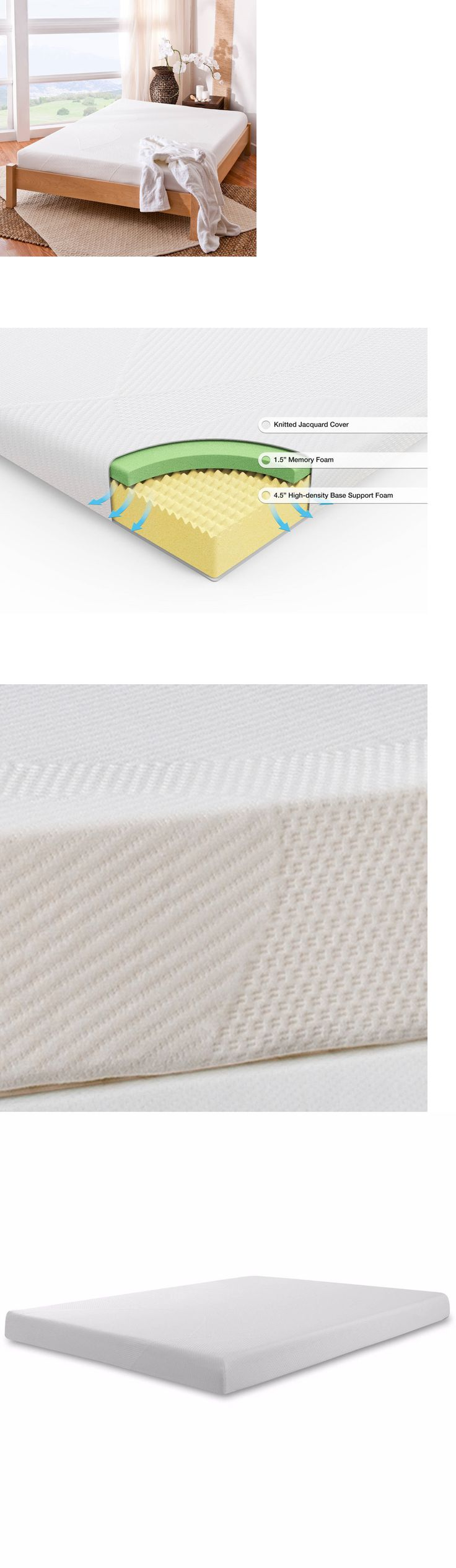 Bedding: 6 Inch Memory Foam Mattress Full Size Bed Cool Firm Sleep New Spa Sensations -> BUY IT NOW ONLY: $97.99 on eBay!