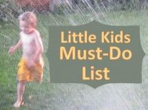 A Delight List for 4 to 6 year olds
