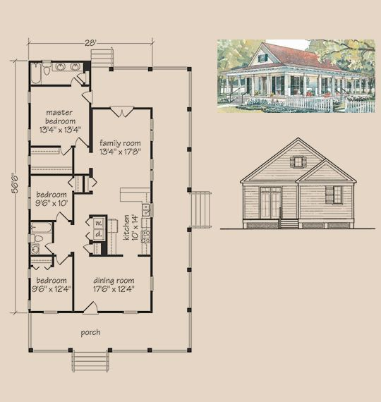 Floor plan of a shotgun house for Shotgun home floor plans