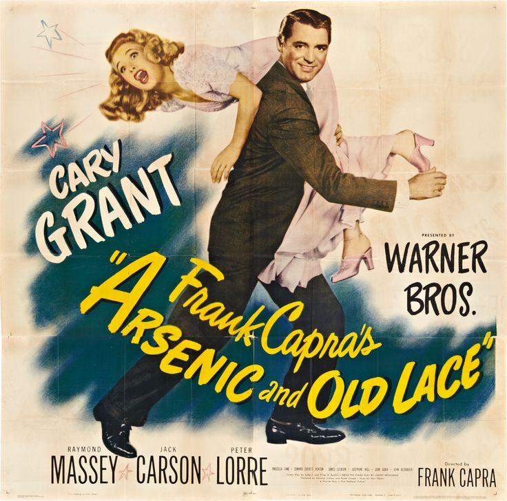 Arsenic and Old Lace 1944  Cary Grant, Comedy Crime Thriller, Edward Everett Horton, Frank Capra, Grant Mitchell, Jack Carson, James Gleason, Josephine Hull, Peter Lorre, Priscilla Lane, Raymond Massey