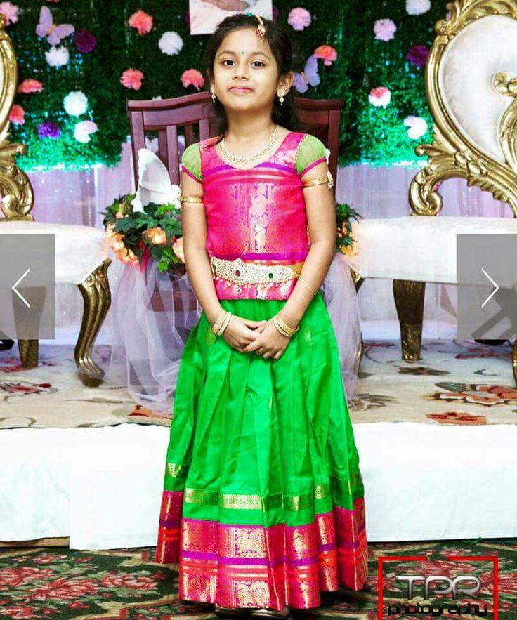 Kids lehenga from bhargavi kunam