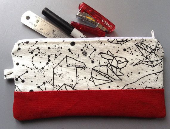 constellation pencil pouch pencil case Pouch by aninaround on Etsy
