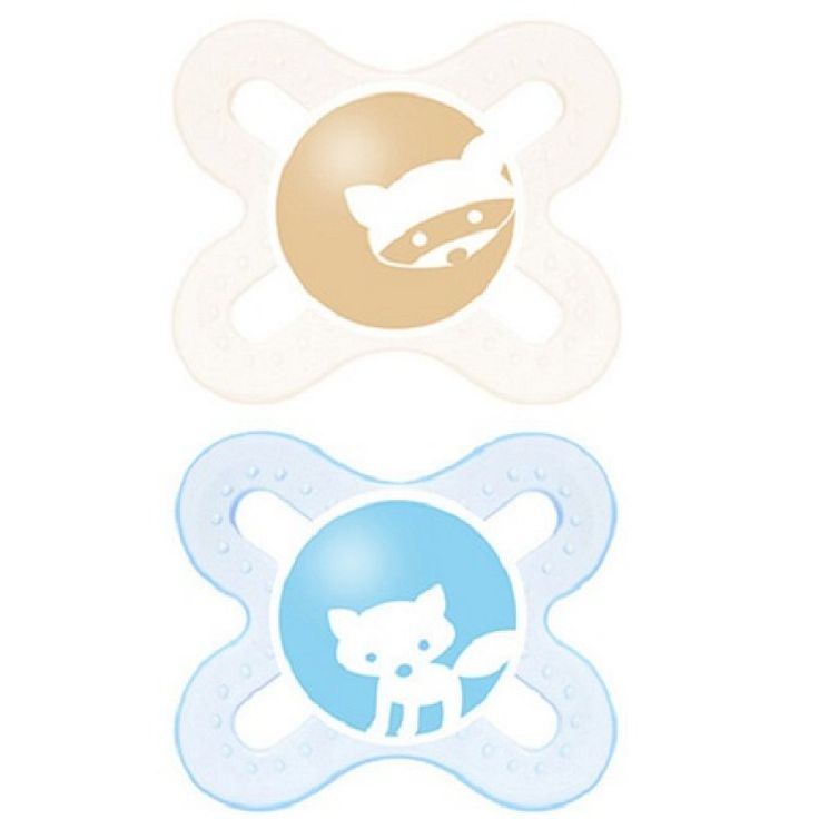 "MAM ""CLEAR"" 2x Dummy Pacifier Soother"