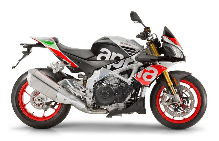 2017 Tuono V4 1100 APRC Factory. For 2017, Aprilia has updated its Tuono V4 1100s with new electronics and bigger brakes. On the V4 1100 Factory, you also get an Öhlins' NIX fork