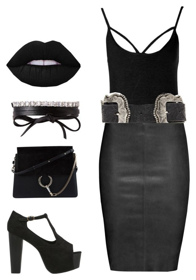 """""""Such Goff"""" by girlbehindthebluedoor1590 on Polyvore featuring Boohoo, Jitrois, Jeffrey Campbell, B-Low the Belt, Fallon and Chloé"""