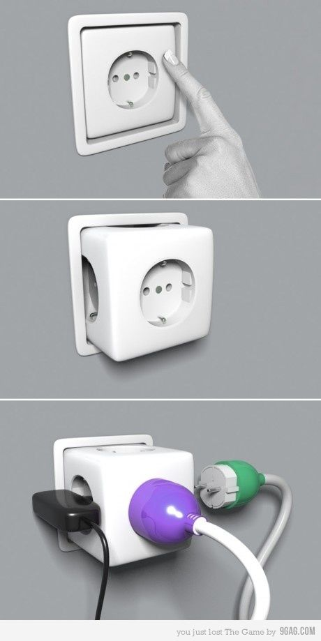 Space saving plug
