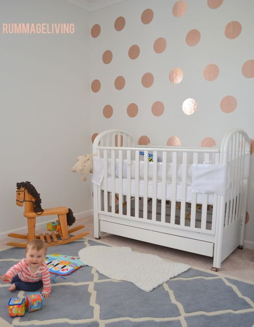 Teenage Girl Room White And Gold Polka Dot Wallpaper Best 25 Accent Wall Nursery Ideas On Pinterest Wood