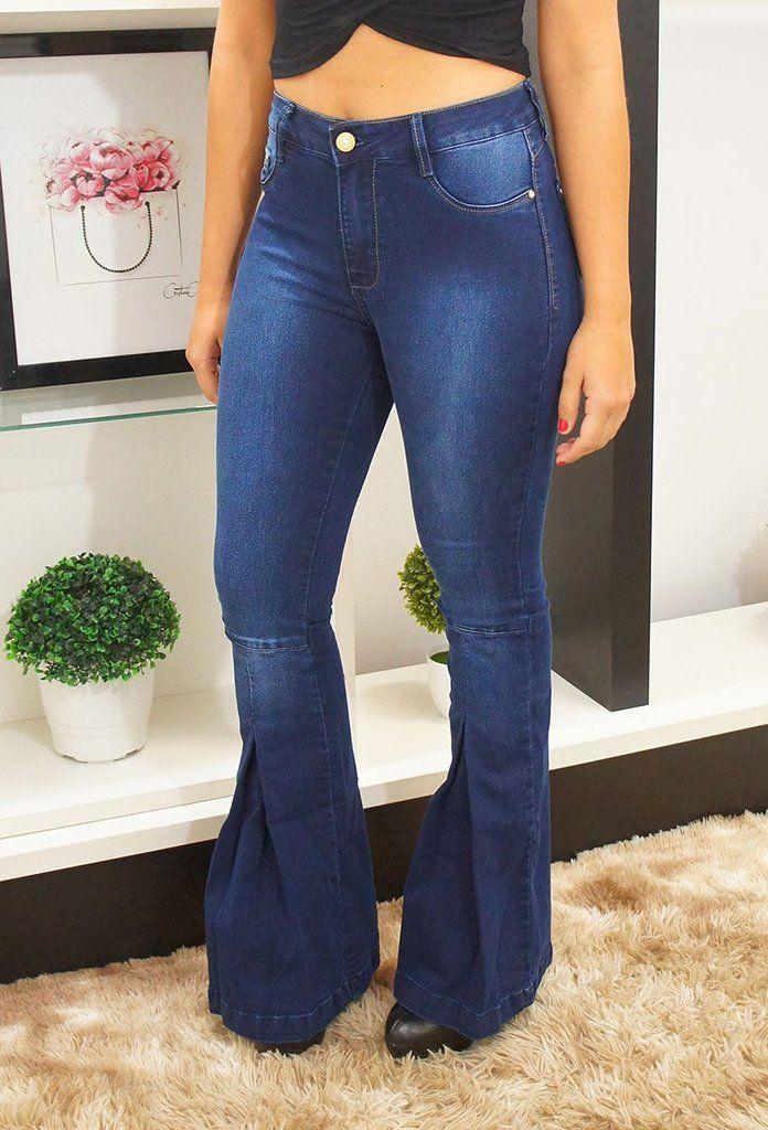 d138e9ef2 Calça Jeans Flare escura Bokker 30361-Bokker-Loja 22K   Calças Jeans ...