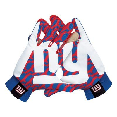 Nike New York Giants Stadium Gloves - Royal Blue. Cool looking gloves and they keep your hands warm sign me up.