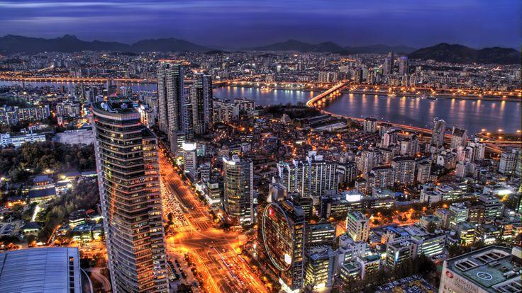 Download Wallpaper 3840x2160 South korea, Seoul, Capital city ...
