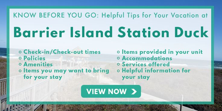 Know Before You Go to Barrier Island Station - Duck   Duck, NC   Outer Banks