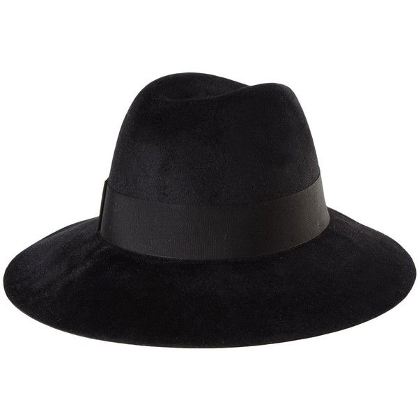 BORSALINO Hat (3.360 ARS) ❤ liked on Polyvore featuring accessories, hats, borsalino hats, borsalino and logo hats