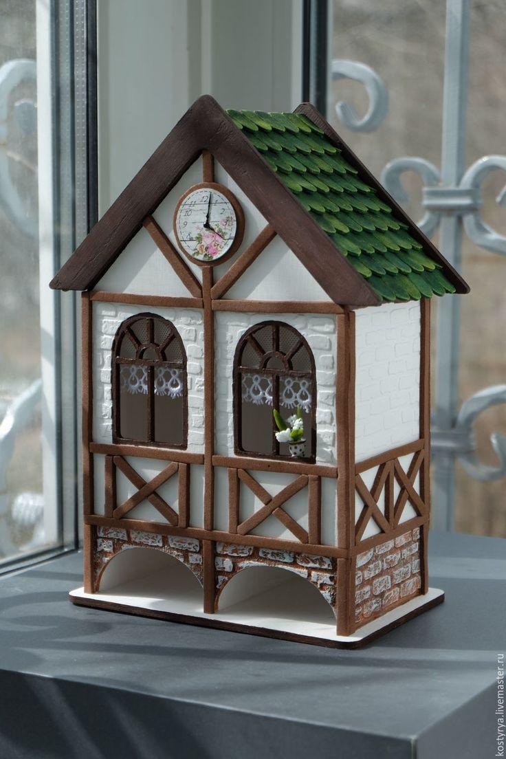 Купить Немецкий чайный домик двойной в стиле Фахверк - белый, немецкий, баварский, фахверк, каркасный