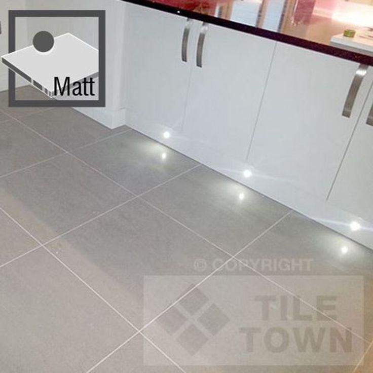 Lounge Light Grey Matt Porcelain Floor Tiles by RAK (tile factory) supplied by Tile Town. Discounted Contemporary Matt Finish Floor Tiles