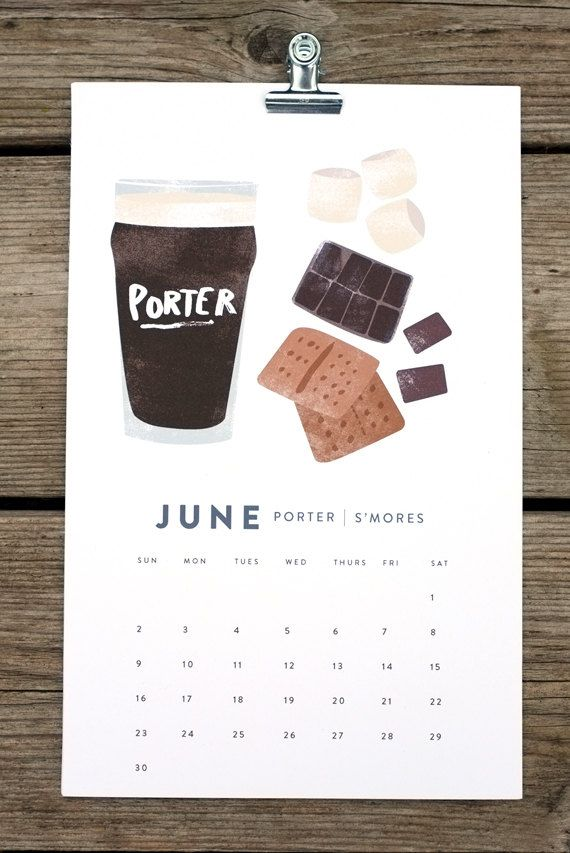 BEER/FOOD 2013 calendar. $24.00, via Etsy.