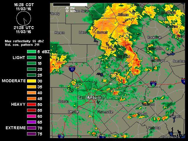 11/3/2016  5pm    Austin-San Antonio Radar   Weather Underground