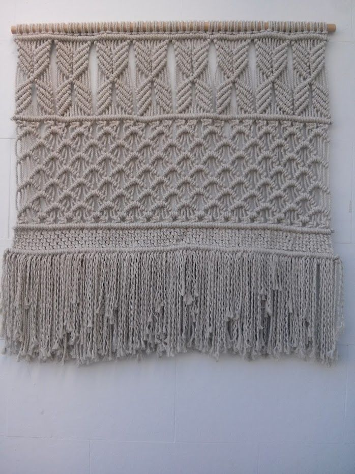 12 best tapices de macram de macrameart images on pinterest macrame wall hangings products - Tapices de macrame ...