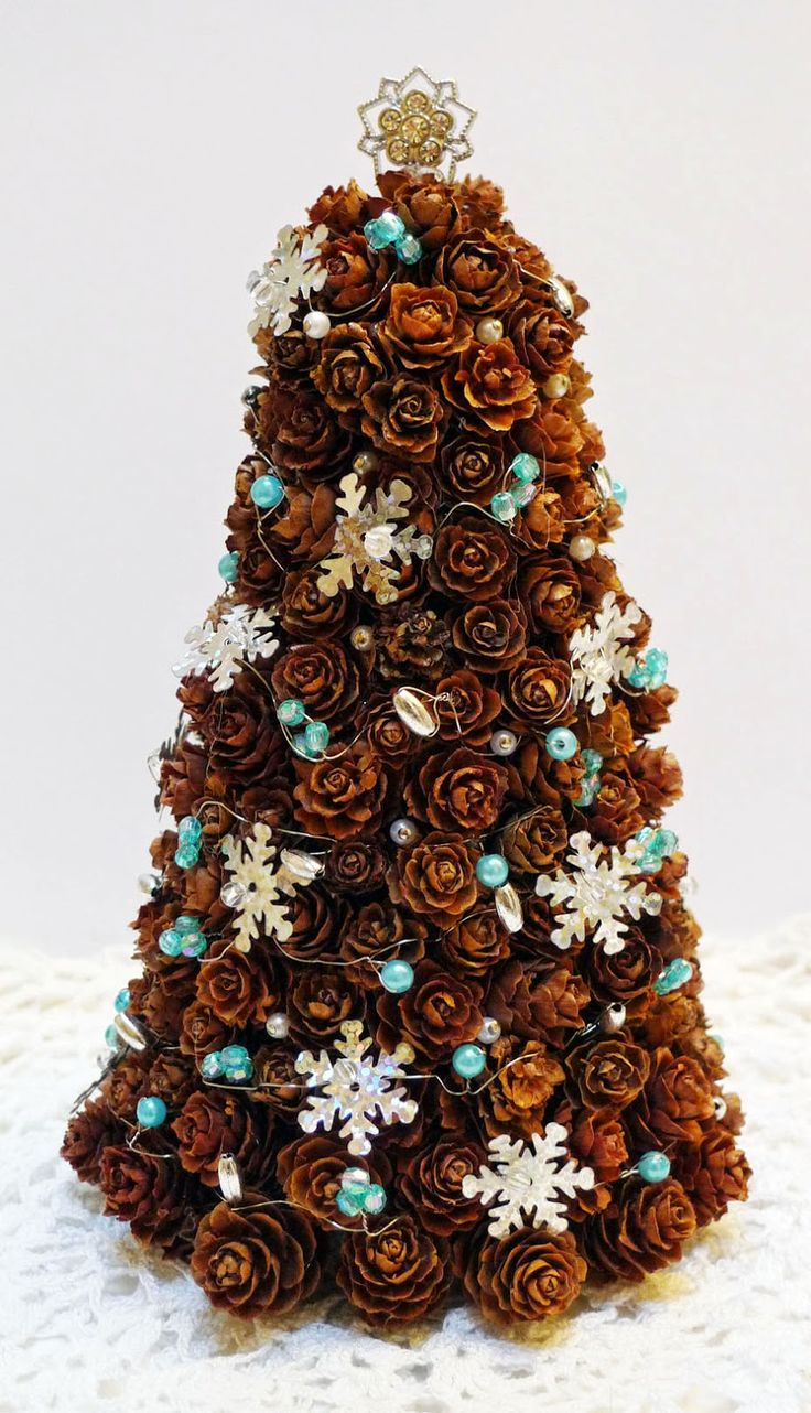 pine cone christmas tree handmade crafts my crafts