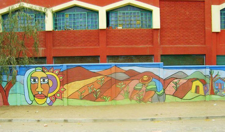 mural en escuela san miguel azapa ( arica)