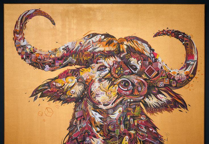 Collectif 33% - renaissance - mixed media on canvas 120/120cm