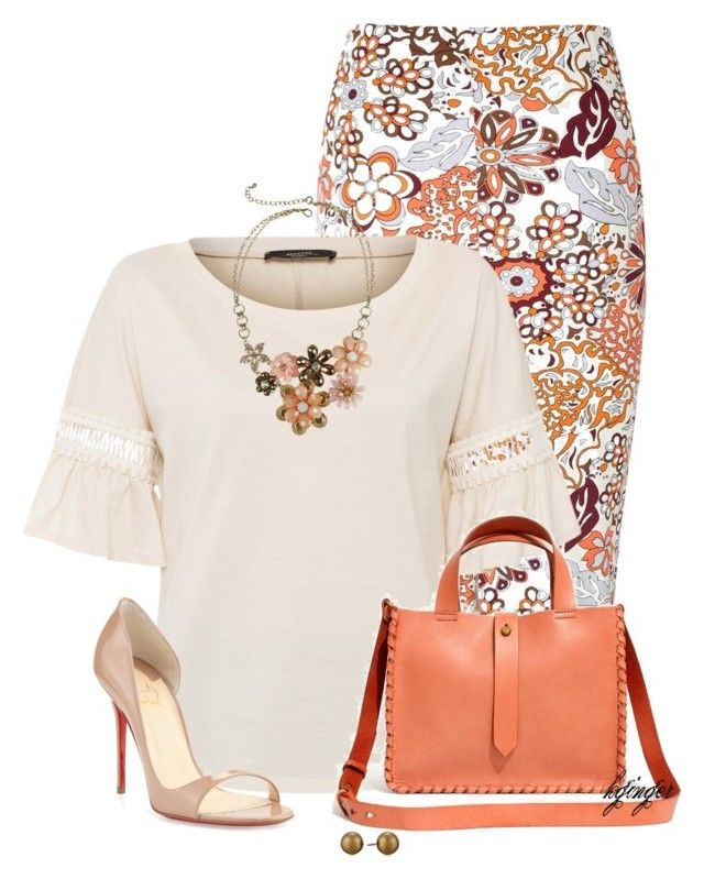 """""""Summer Office Style"""" by kginger on Polyvore featuring Glamorous, Weekend Max Mara, Madewell, Christian Louboutin, Mixit and Carolee"""