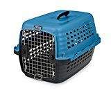 Petmate 41040 Compass Fashion Pets Kennel with Chrome Door Island Blue/Black