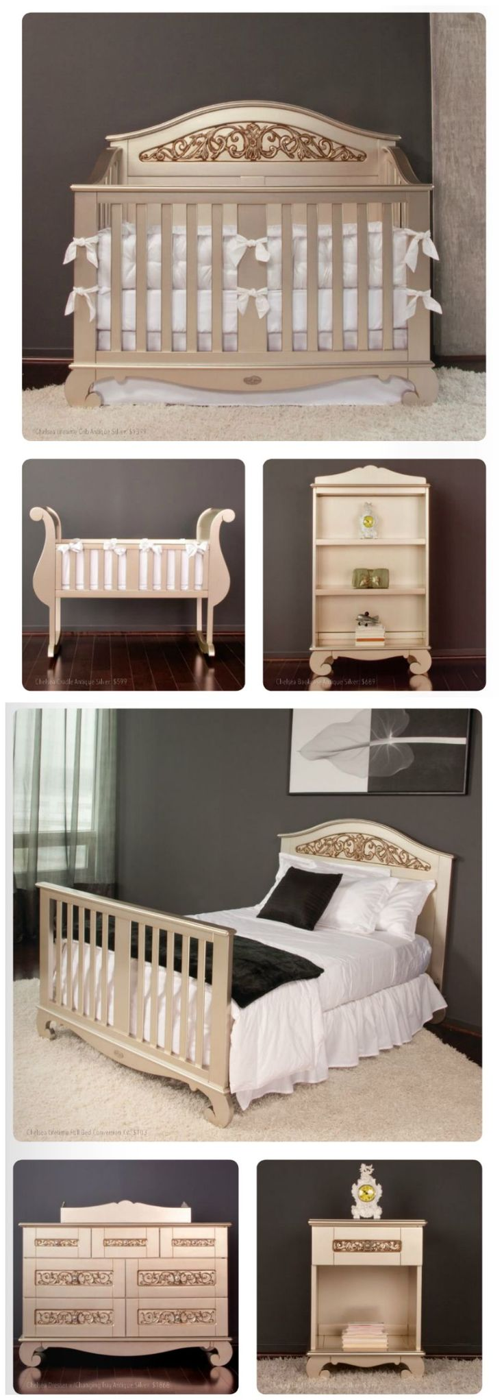 silver nursery furniture. the chelsea silver nursery collection by bratt decor is drop dead gorgeous offers so many furniture