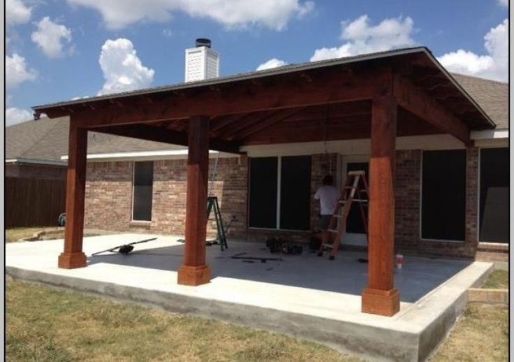 Attached Covered Patio To House Patios Home Design Ideas