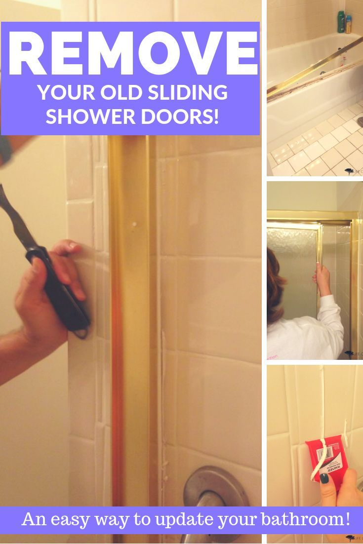 How To Remove Sliding Shower Doors Shower Doors Bathtub Remodel