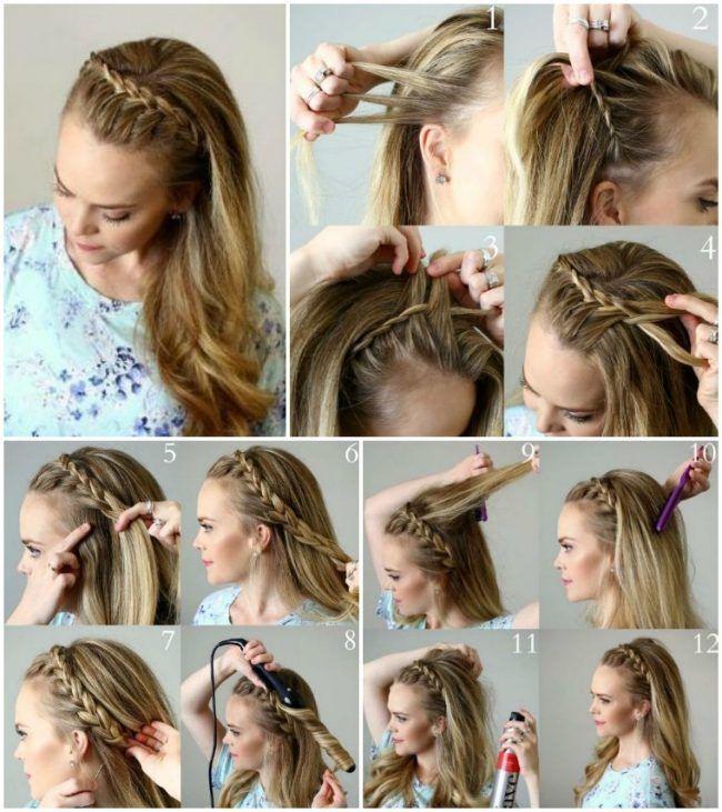 Abendfrisuren Selber Machen Lange Haare Halboffen Zopf Evening Hairstyles Hair Styles Long Hair Styles